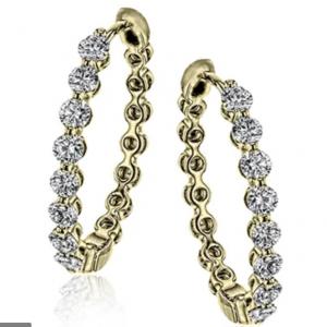 18k Yellow Gold Simon G. Hoop Earrings