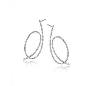 18K White Gold Earrings by Simon G LE2212