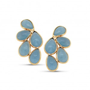 18 K Flora Aquamarine Earrings