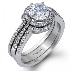 White 18 Karat Set (3 rings total)  Engagement Mounting