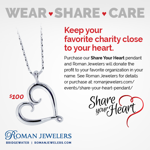 Roman Jewelers Share Your Heart Pendent
